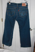Levis Blue Jeans 34x32(35x30)Type 1 Real Loose Dark Wash Cotton Blend Zipper Fly
