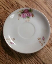 Saucer made in Occupied Japan - White with rose motif & Gilding