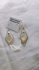925 sterling silver earrings with  MOP