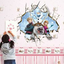 Frozen 3D Window Princess Mural Wall Sticker Decal Kids Nursery Room Decor Vinyl