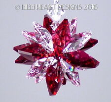 m/w Swarovski Mini SUPER STAR RED CLEAR Car Charm Suncatcher Lilli Heart Designs