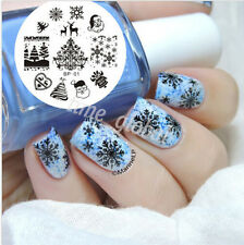 Christmas XMAS Nail Art Stamp Template Image Plate BORN PRETTY #01 Nail Tool