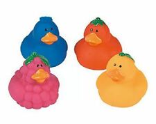 Set of 4 Fruit Rubber Ducks Duckys Duckies #13686233 Grapes Blueberry