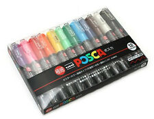 Mitsubishi Uni Posca PC-1M 12C Marker Pen 0.7mm 12-Color Set 4902778654088