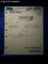 Sony Service Manual CDP SP55 Mini Component System (#6056)