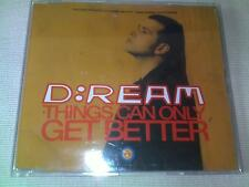 D:REAM - THINGS CAN ONLY GET BETTER - 1993 DANCE CD SINGLE