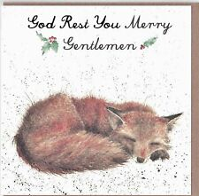 "Country Set Christmas  Card  Wrendale Designs ""God Rest Ye Merry Gentlemen"" FOX"