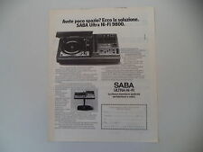 advertising Pubblicità 1976 SABA ULTRA HI-FI 9800