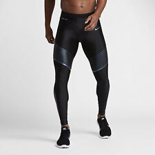Mens Nike Dri Fit Power Speed Running Tights Large  $150 NWT 717750 025 Black !!
