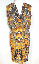 Rare 2011 Alexander Mcqueen Butterfly Print Dress It 40 UK 8