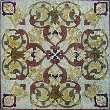 "40"" Handmade Geometric Marble Mosaic Art Tile Stone Floor Wall Table top Decor"