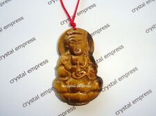Feng Shui - Tiger Eye Goddess Kuan Yin Necklace