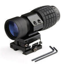 3X Magnifier Scope Sight with Flip To Side 20mm Rail Mount Scopes