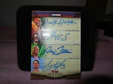hulk hogan -ric flair 2010 tristar one of one tna icons autographed card