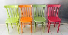 SEDIA sedie chair legno ANNI '50 epoca legno colorate VINTAGE modernariato
