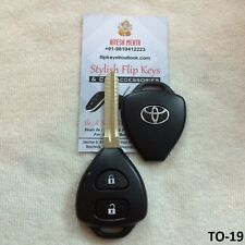 Toyota Innova / Fortuner - 2 Button Replacement Remote Key Shell