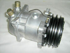 """8390 SD508 SANDEN STYLE COMPRESSOR 508 NEW W/FLARE 'B"""" HEAD 2 V BELT PULLEY"""