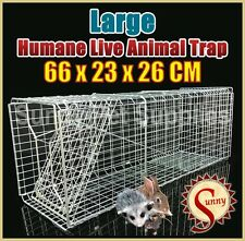 66cm Large Humane Live Animal Possums Rat Cat Rabbit Hare Bird Bait Rat Trap BN
