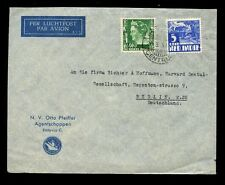 DUTCH EAST INDIES 1939 AIRMAIL OTTO PFEIFFER SHIPPING AGENT ENVELOPE to GERMANY