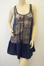 TOPSHOP Ladeis Navy Lace Tunic Dress Size 8 £45 NEW (AU)