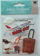 TAKING OFF~ Jolee's Boutique Dimensional Stickers; Airplane Travel Vacation Trip