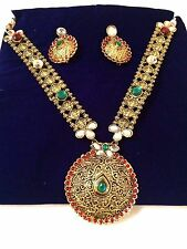 Beautiful Traditional  Indian Bollywood Style Rani Haar Necklace Jewelry Set