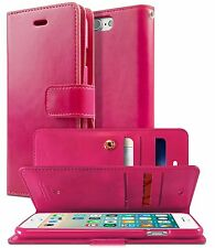 Double Flip Leather Wallet Card Book Case Cover For iPhone 7 Galaxy Note LG