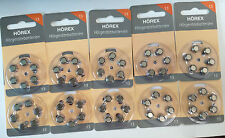 120 Hearing Aid Batteries Basic Hörex Size 13 NEW