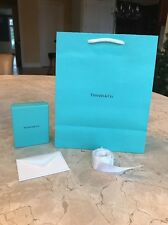 AUTHENTIC TIFFANY&CO. GIFT BOX, MEDIUM GIFT BAG, WHITE RIBBON AND CARD-BRAND NEW
