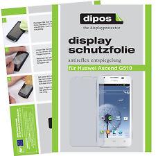 Huawei Ascend G510 Schutzfolie matt Displayschutzfolie Folie Antireflex dipos 1A