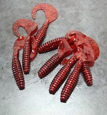 Soft Plastic Grubs X8, 80mm. Scented, Curly Tail Lure, Fresh & Saltwater