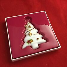 Royal Albert Old Country Roses Christmas Tree   ornament W Box
