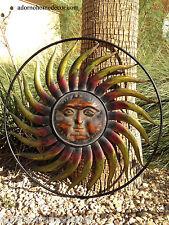 Large Round Metal Sun Wall Decor Garden Art Indoor Outdoor Patio Wall Sculpture