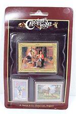 VINTAGE SET 3 FRAMED PICTURES CAROLINE'S HOME DOLLHOUSE MINIATURE 1:12 SCALE NEW