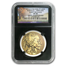2013-W 1 oz Reverse Proof Gold Buffalo Coin - PF-70 ER NGC - SKU #79122