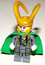 LEGO NEW LOKI SUPER HERO MINIFIGURE MARVEL AVENGERS REMOVED KEYCHAIN