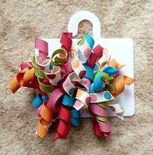 Gymboree Hair Clips x 2 - Orange, Red, Pink, Blue, Green and White - New (G26)
