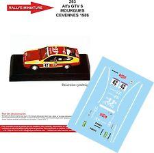 Decals 1/24 réf 263 Alfa GTV 6 MOURGUES CEVENNES 1986