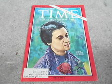 JAN 28 1966 TIME vintage news magazine INDIRA GANDHI - INDIA