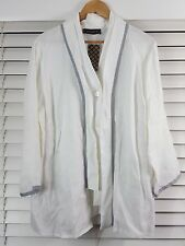 MAGGIE T sz 20 womens Linen Jacket / top  NEW + TAGS