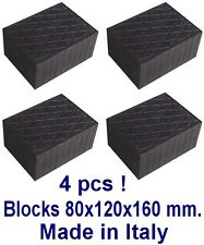 Universal Scissor Lift Pads - H80 - Ramp Rubber Blocks Made in Italy REAL RUBBER