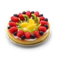 Dolls House Miniature Luxury Mixed Fruit Topped Tart