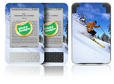Amazon Kindle 3 - Ski Scene Vinyl Skin Sticker Cover