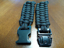 Paracord 550 Watchband with Black Metal Clasp
