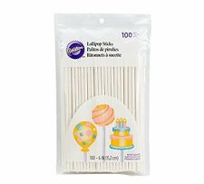 Lollipop sticks 100 count 6 inch by Wilton(1912-1002) 6 inch size BRAND NEW AOI