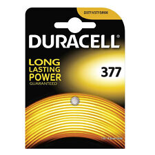1 x Duracell 377 Battery 1.5v Button Coin Batteries D377 V377 SR66 Silver Oxide