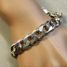 SILVER second hand heavy flat curb bracelet