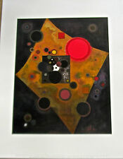 Kandinsky Poster  Akzent in Rosa  Brighter Red Amidst Darkness 14xx11