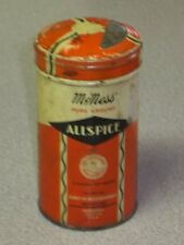 Vintage McNess Orange Cream Spice Tin Allspice Retro Country Kitchen Advertising