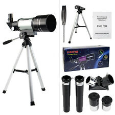TOP 70mm Refractor Terrestrial&Astronomical Telescope+Tripod+Eyepiece Astronomer